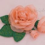 Брошь-цветок из ткани