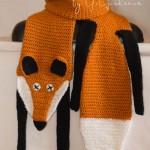лиса горжетка шарф