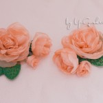 Брошь цветок из органзы