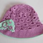 Летняя шляпка с полями на девочку