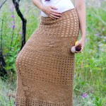 Ажурная летняя юбка