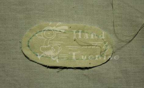 Держатель для катушек: текстильный заяц