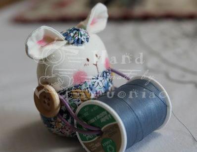 Текстильный зайка держатель катушек