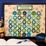 пуговичный календарь
