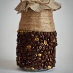 Баночка из кофейных зерен