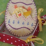 Пасхальное яйцо из фетра