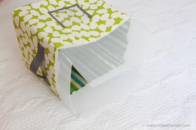 Коробка для вещей своими руками из ткани 79