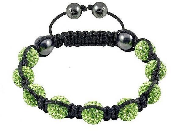 шарики зеленого цвета травы 10mm кристаллические с браслетами черного Bangle...