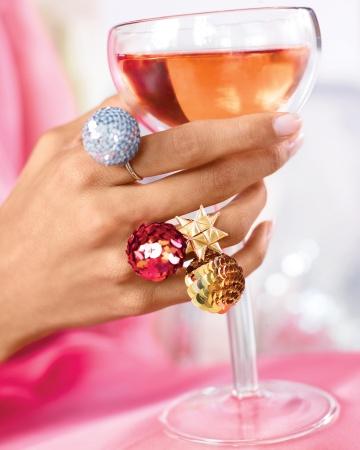 Новогодние кольца своими руками