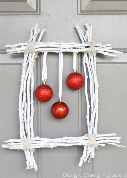 Navidad corona de ramas