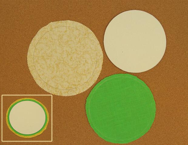 детали кругов из ткани