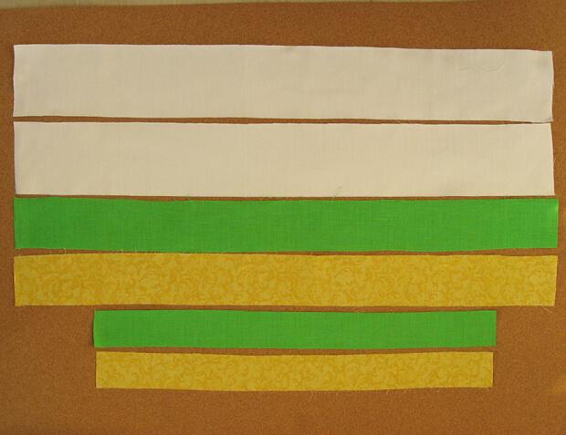 нарезаем полосы ткани