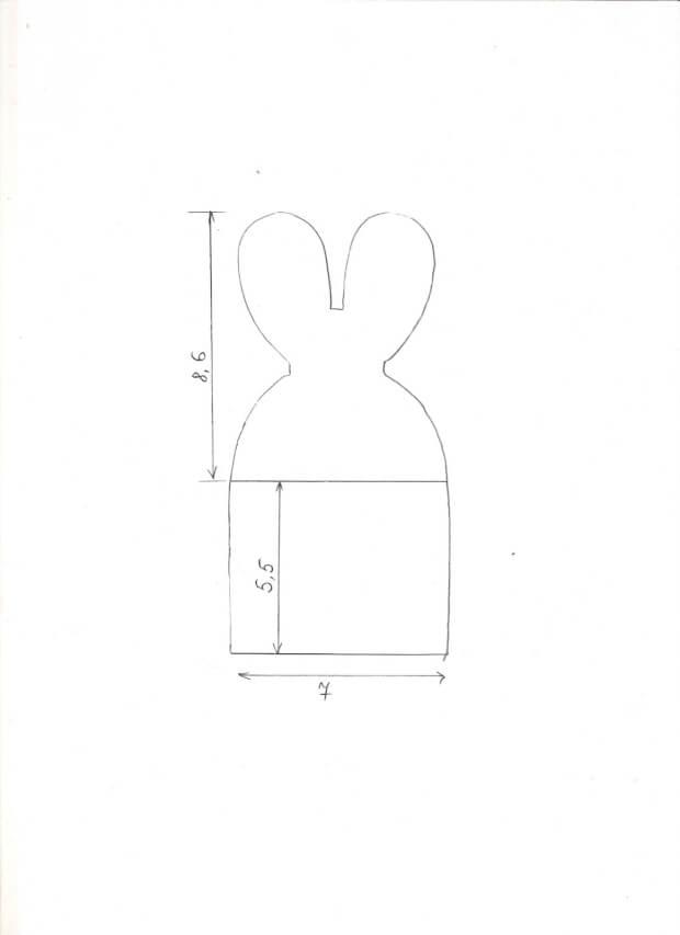 шаблон зайца для корзины