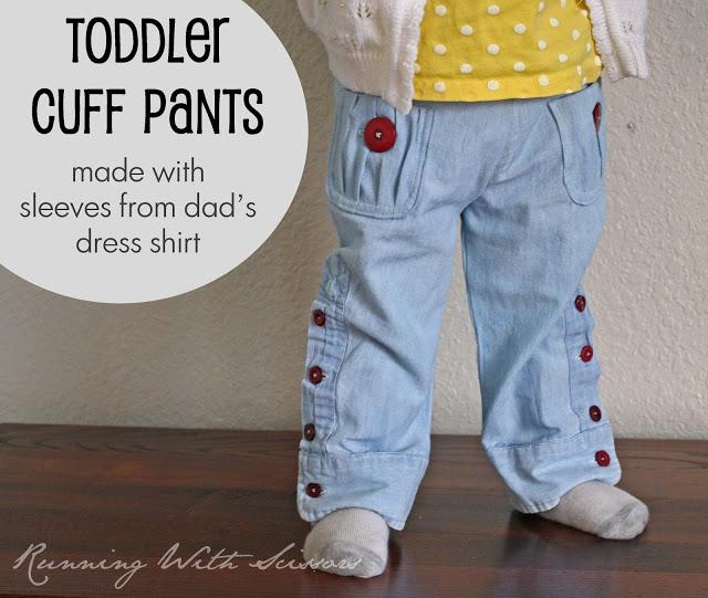 детские брюки из папиной рубашки (1)