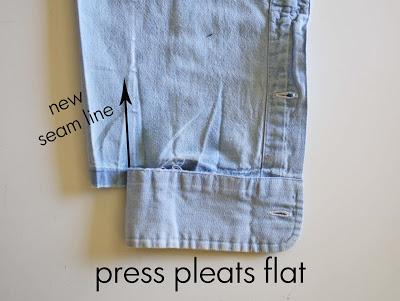 детские брюки из папиной рубашки (10)