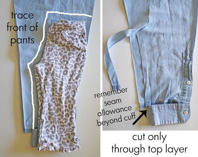 детские брюки из папиной рубашки (11)