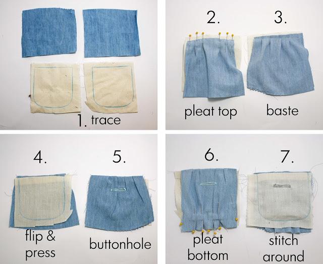 детские брюки из папиной рубашки (15)