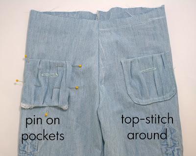детские брюки из папиной рубашки (16)