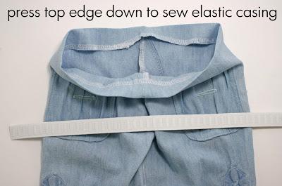 детские брюки из папиной рубашки (17)
