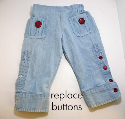 детские брюки из папиной рубашки (18)
