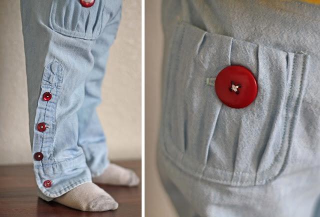 детские брюки из папиной рубашки (4)