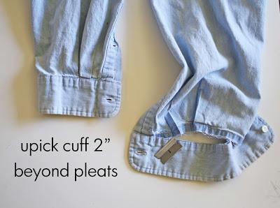 детские брюки из папиной рубашки (9)