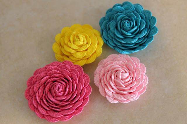 розы из тесьмы (6)
