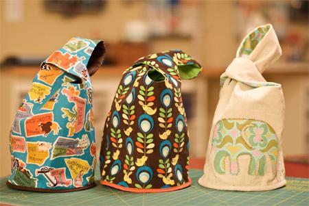 Японская мини-сумочка (Japanese knot bag) своими руками