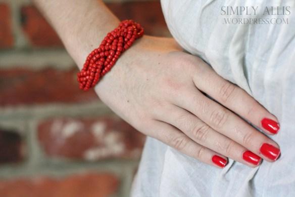 плетеный браслет из бисера своими руками (9)