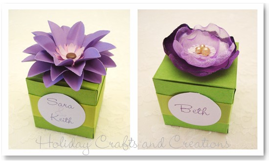 подарочная коробка с цветком своими руками (4)