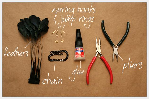 серьги с перьями своими руками мастер-класс (1)