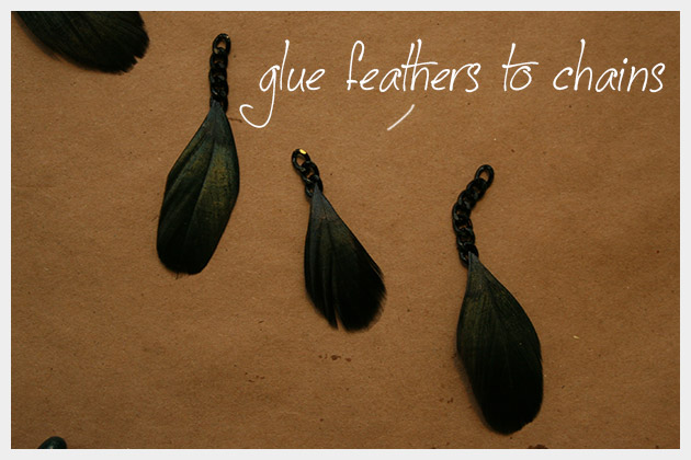 серьги с перьями своими руками мастер-класс (4)