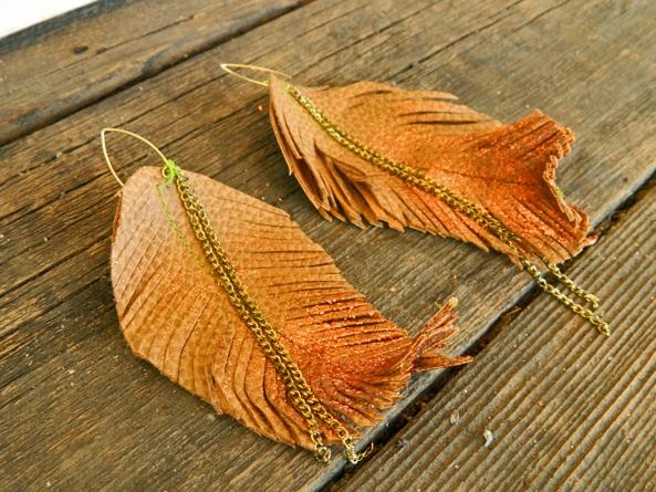 кожаные серьги в стиле бохо (8)