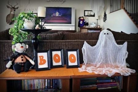 Привидение из марли к Хэллоуину