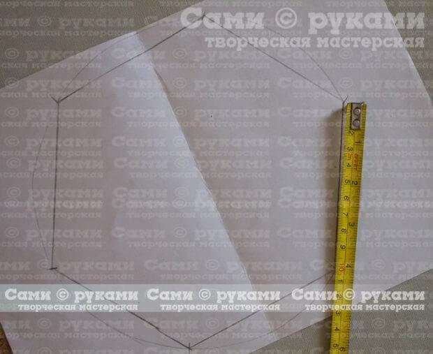 размечаем шестиугольник на круге