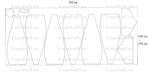 схема расположения деталей выкройки