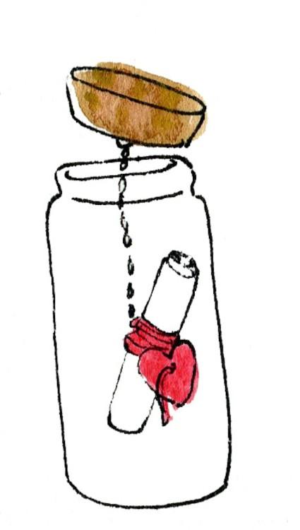Валентинка в бутылке (7)