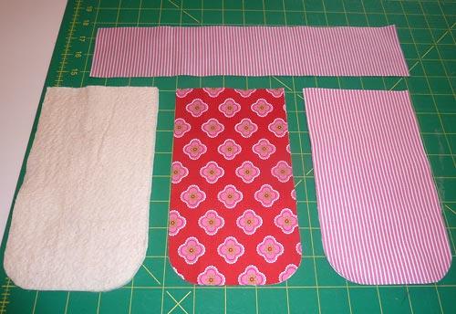 вырезаем заготовки из ткани