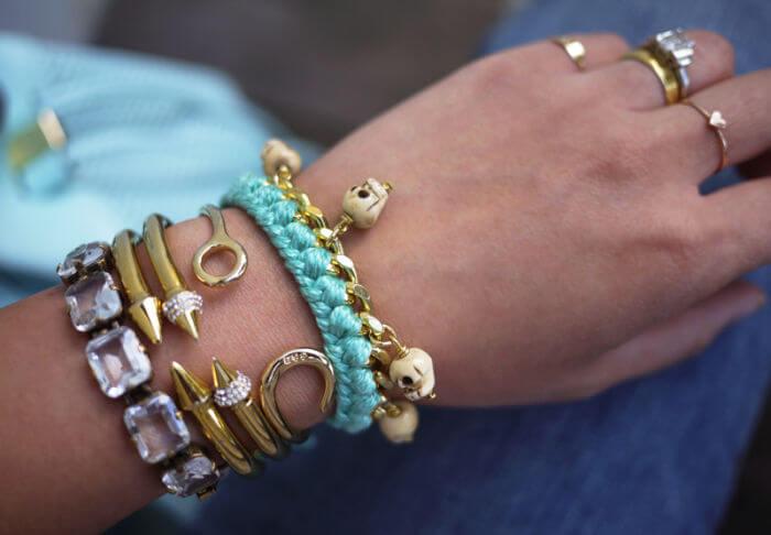 Плетенный браслет с цепочкой (1)