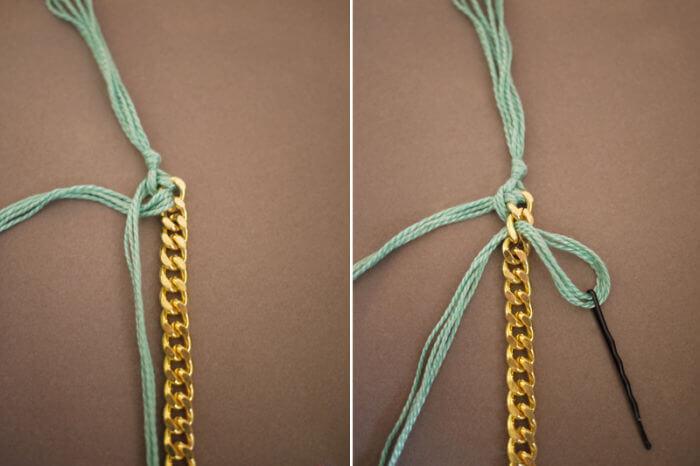 завязываем узелки на каждом звене