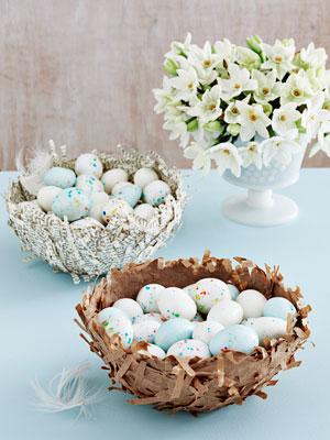пасхальное гнездо из папье-маше