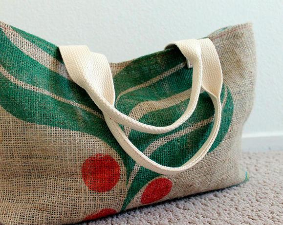Хозяйственная сумка из мешковины