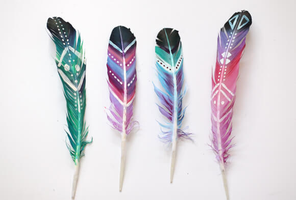 окрашенные перья (3)
