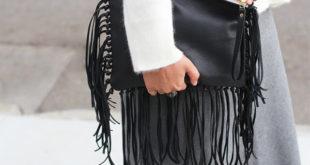 Как украсить кожаную сумку бахромой