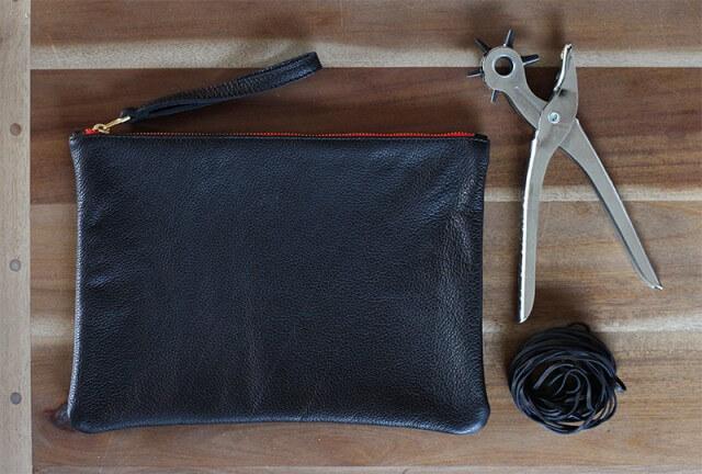 Как украсить кожаную сумку бахромой (2)