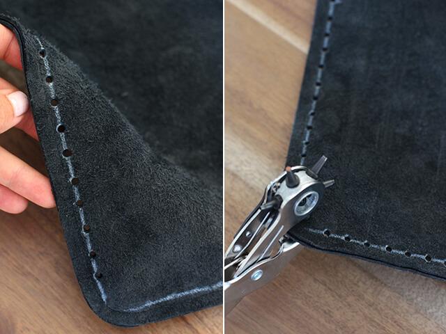 Как украсить кожаную сумку бахромой (5)
