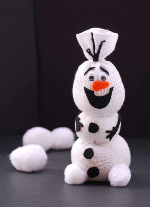 как сделать снеговика из носка своими руками