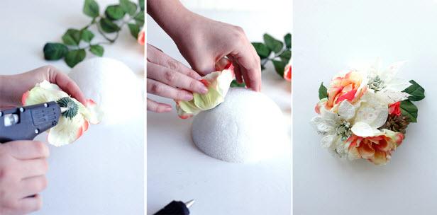 оформление подарка цветком