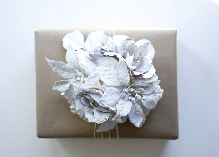 цветок на упаковку подарка