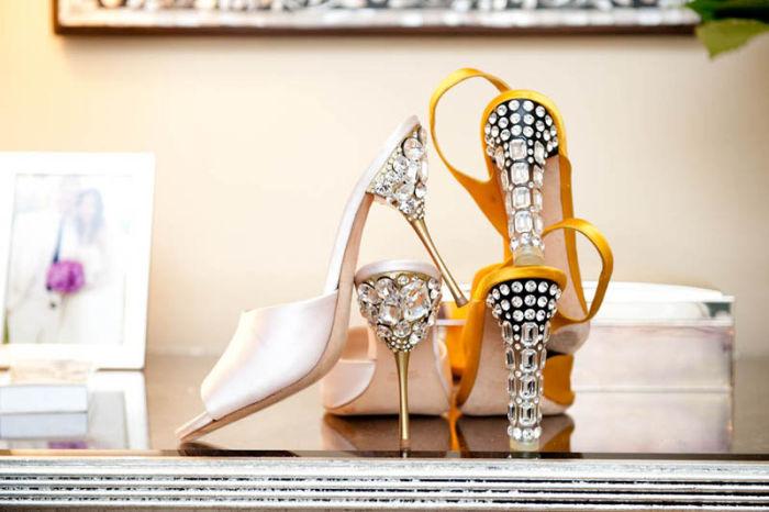 Украшаем каблуки стразами, украшаем обувь своими руками